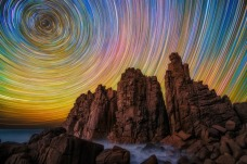 star trails sky color psychedelic